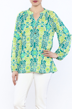 Tracy Negoshian  Ruche Neck Top - Product List Image