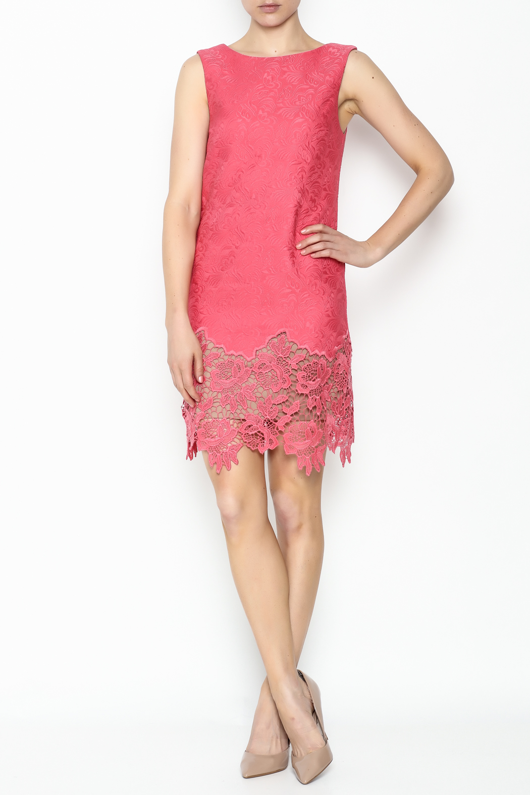 Tracy Reese Ella Lace Sheath Dress - Side Cropped Image