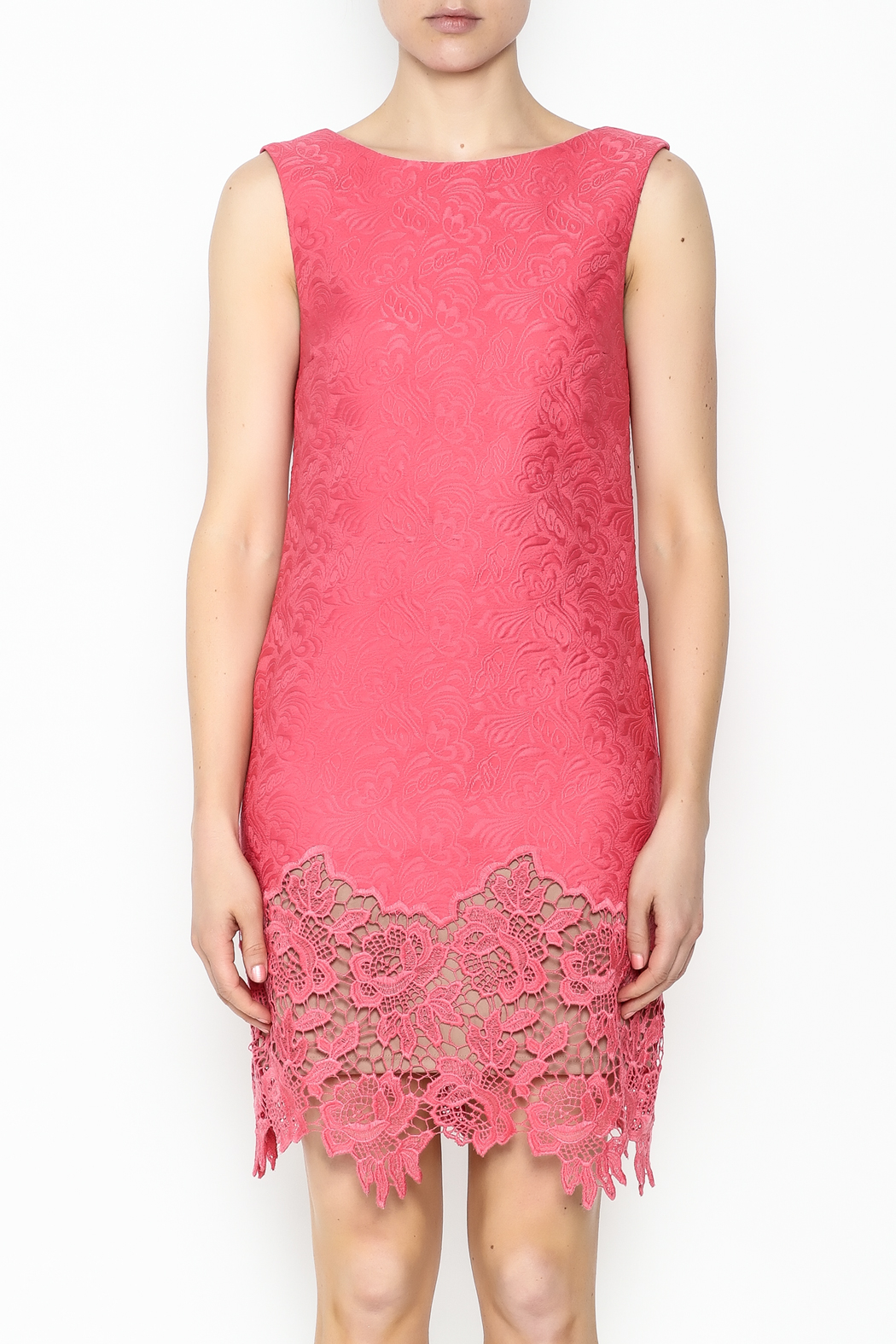 Tracy Reese Ella Lace Sheath Dress - Front Full Image
