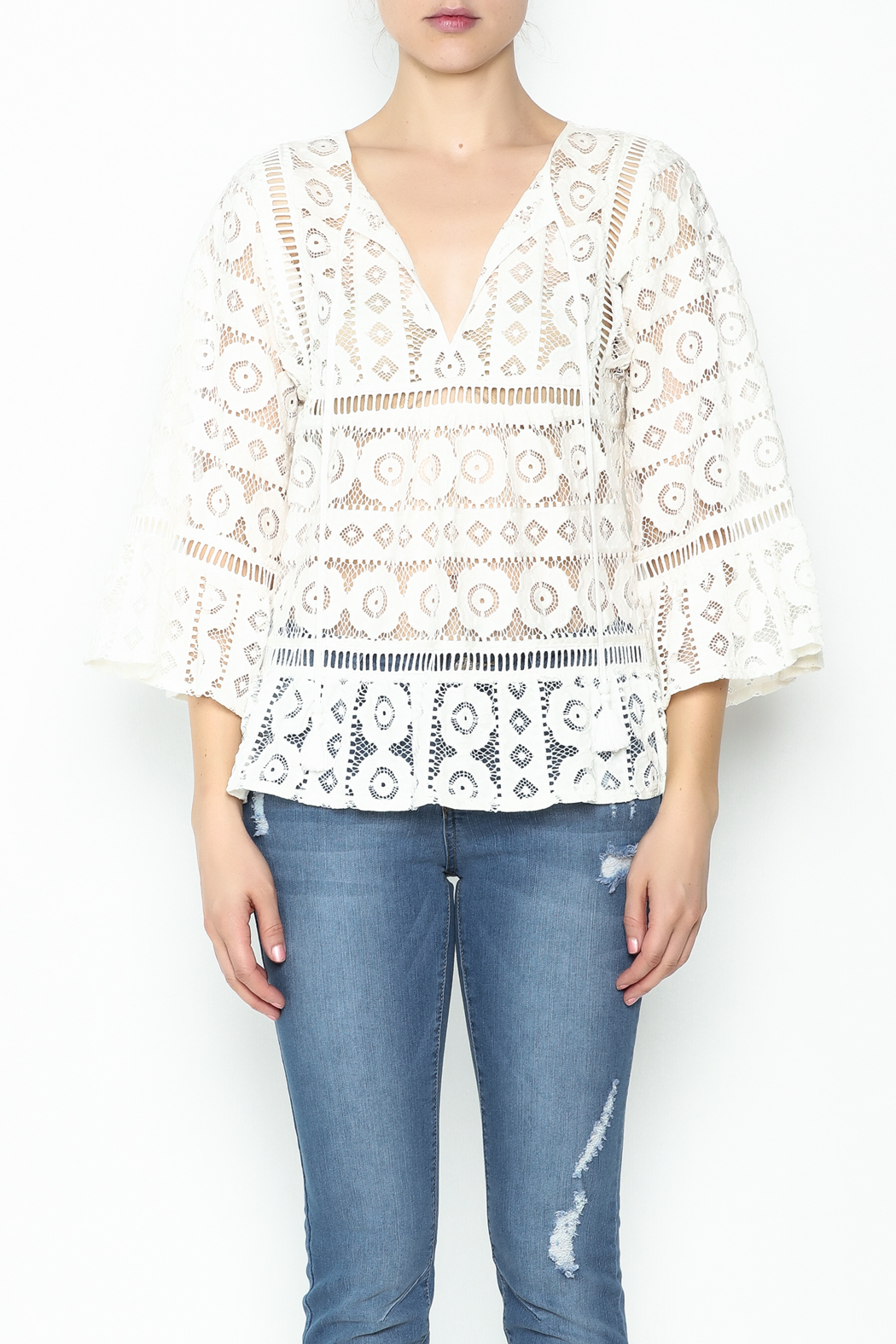 Tracy Reese Lace Blouse - Front Full Image