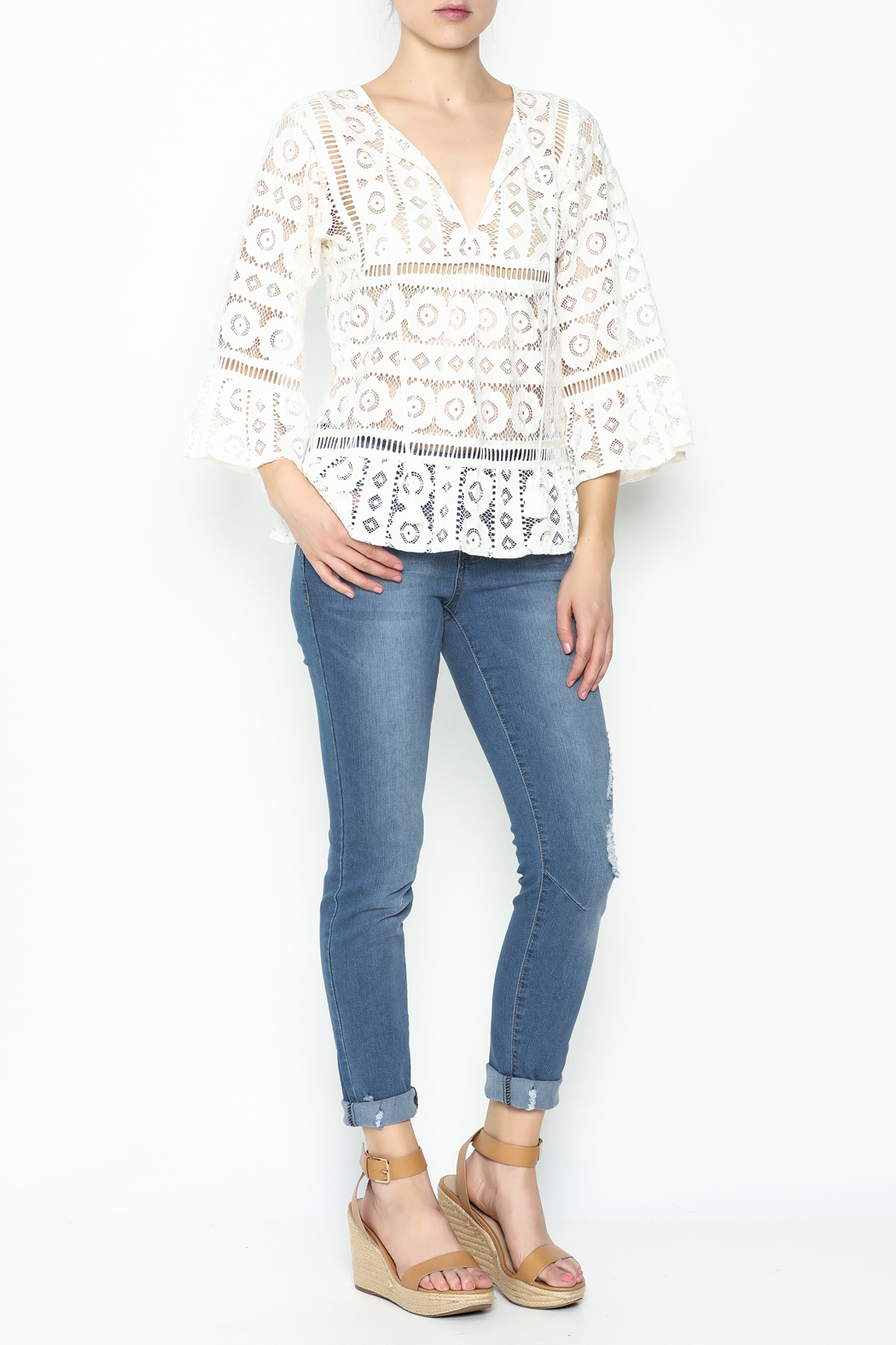 Tracy Reese Lace Blouse - Side Cropped Image