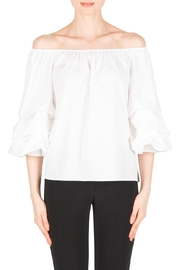 Joseph Ribkoff Tracy White Blouse - Product Mini Image