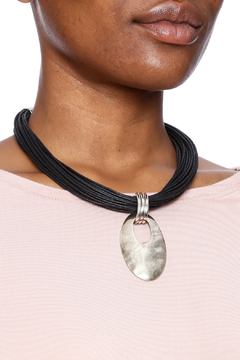 Trades of the East Leather Necklace With Pendant - Alternate List Image