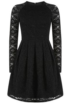 Traffic People Black Lace Dress - Alternate List Image