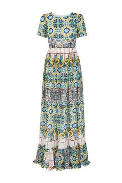 Traffic People Carnival Chiffon Dress - Alternate List Image