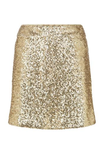 Traffic People Gold Sparkle Skirt - Main Image