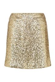 Shoptiques Product: Gold Sparkle Skirt - Front cropped