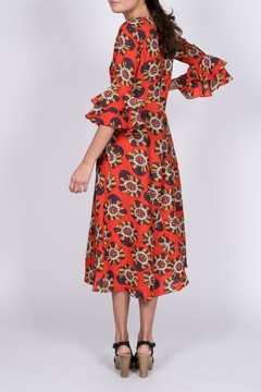 Traffic People Red Floral Midi Dress - Alternate List Image