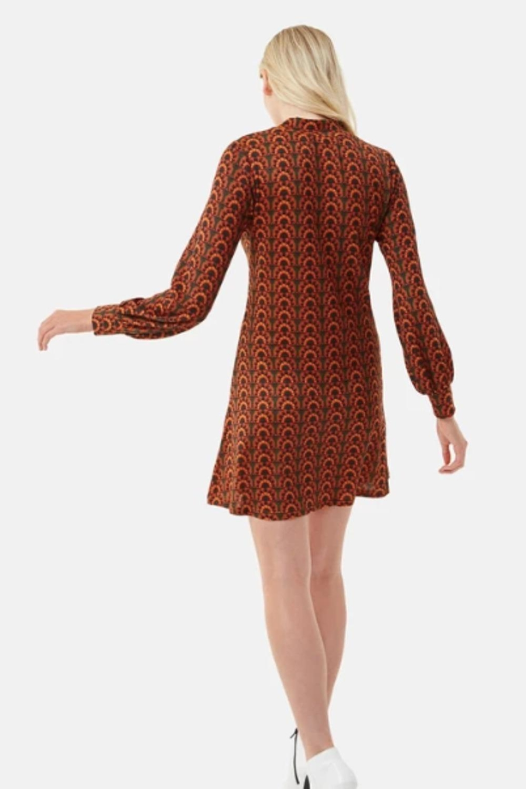 Traffic People Retro Inspired Dress - Front Full Image