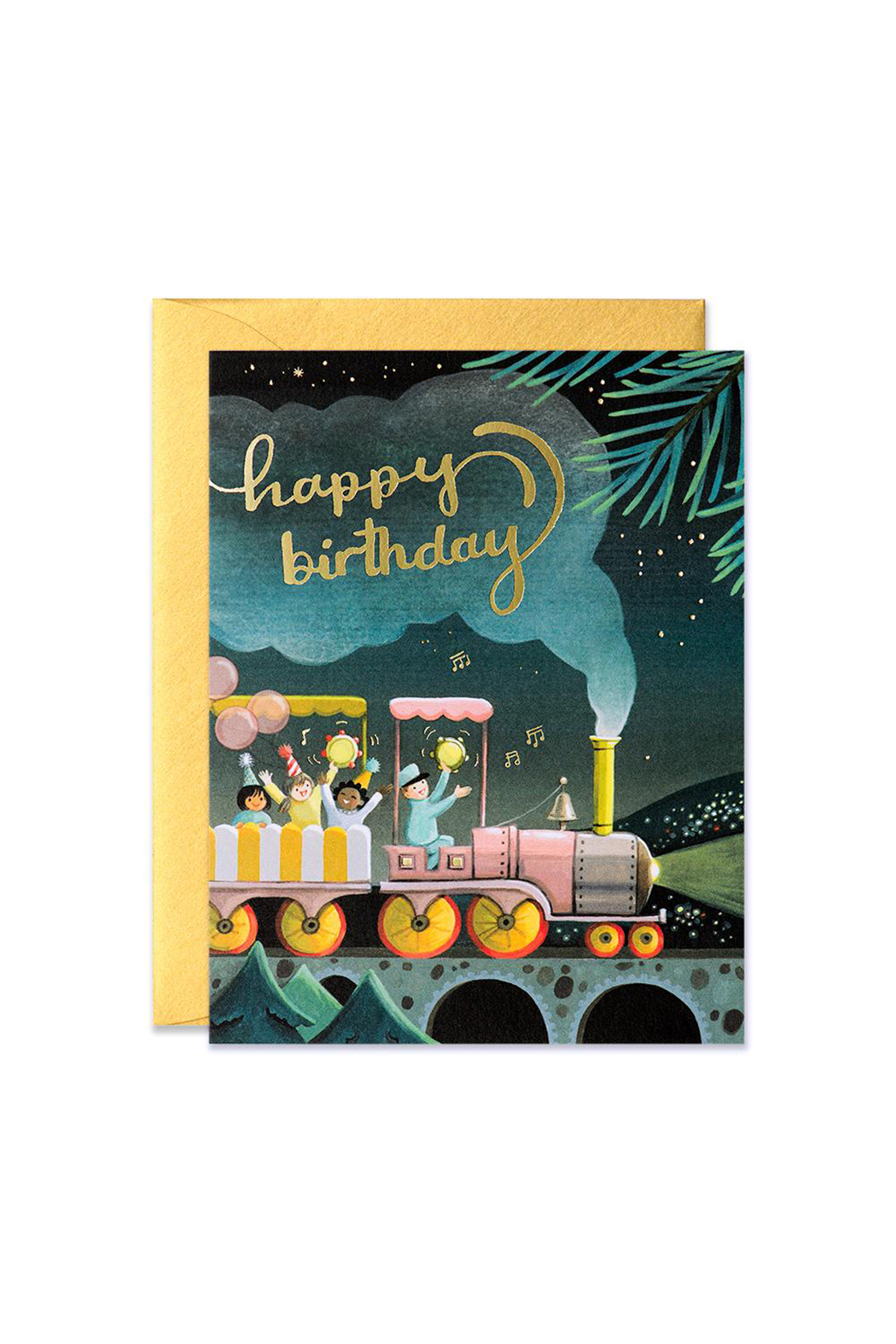 JooJoo Paper Train Birthday Card - Front Cropped Image