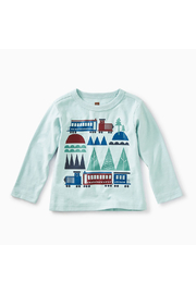 Tea Collection Train Trek Graphic Tee - Front cropped