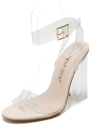 Mackin Girl Transparent Block Heel - Product Mini Image