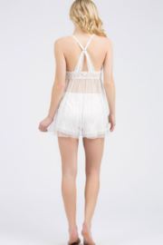 POL Transparent Lace Tunic - Front full body