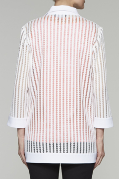 Ming Wang Transparent Lines Jacket in White - Alternate List Image