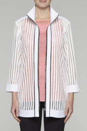 Ming Wang Transparent Lines Jacket in White - Product Mini Image