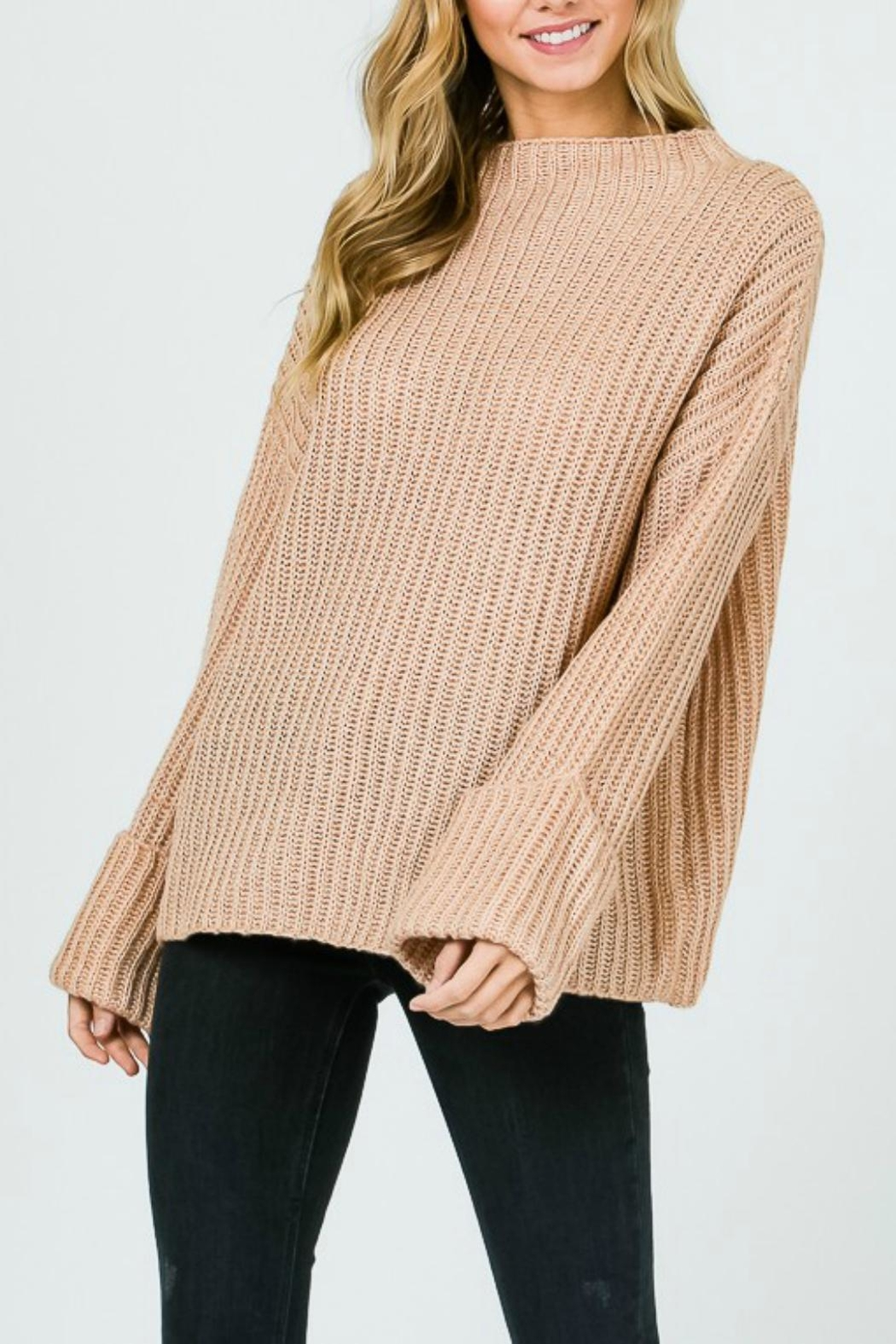 Pretty Little Things Trapeze Swing Sweater - Front Cropped Image