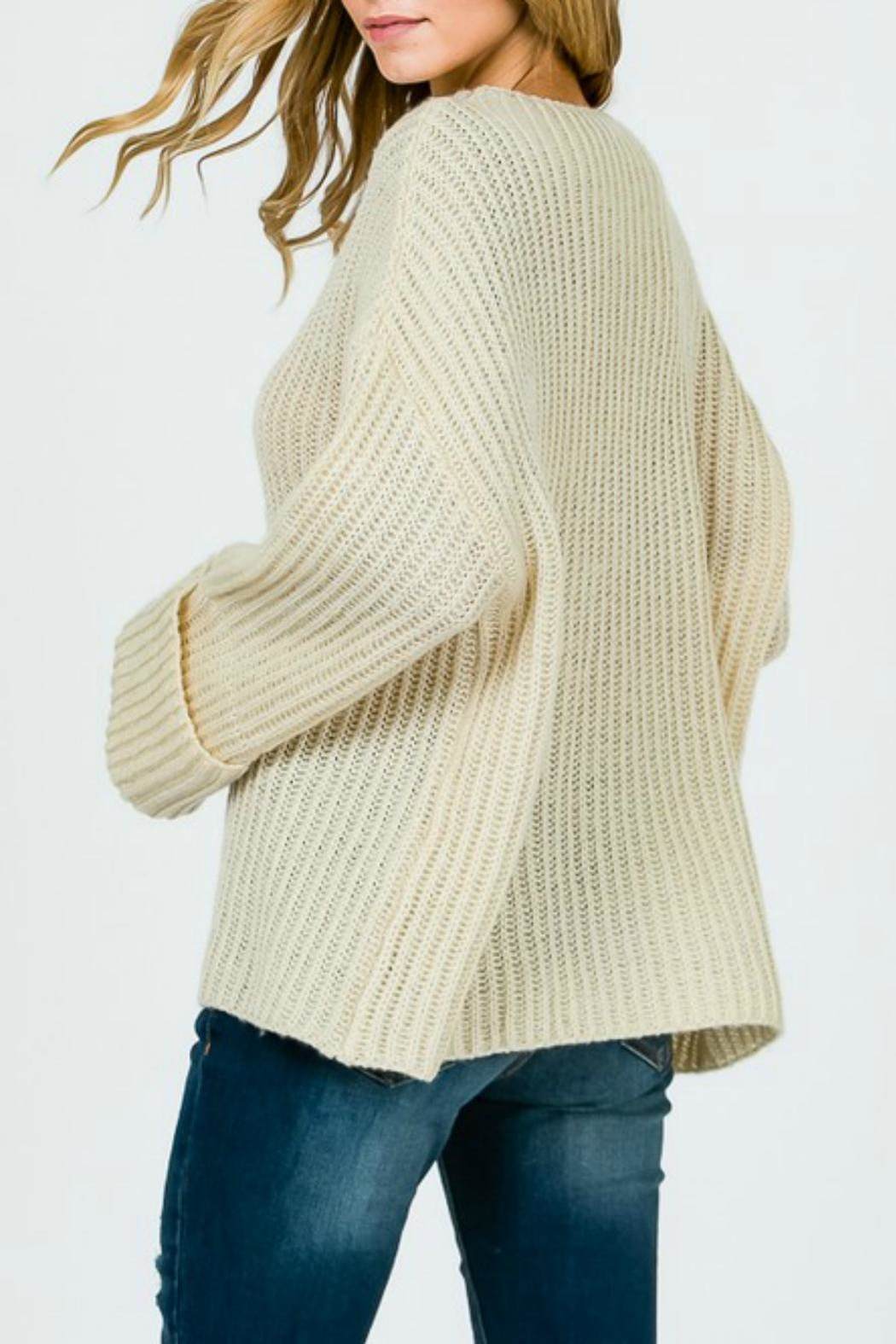 Pretty Little Things Trapeze Swing Sweater - Front Full Image
