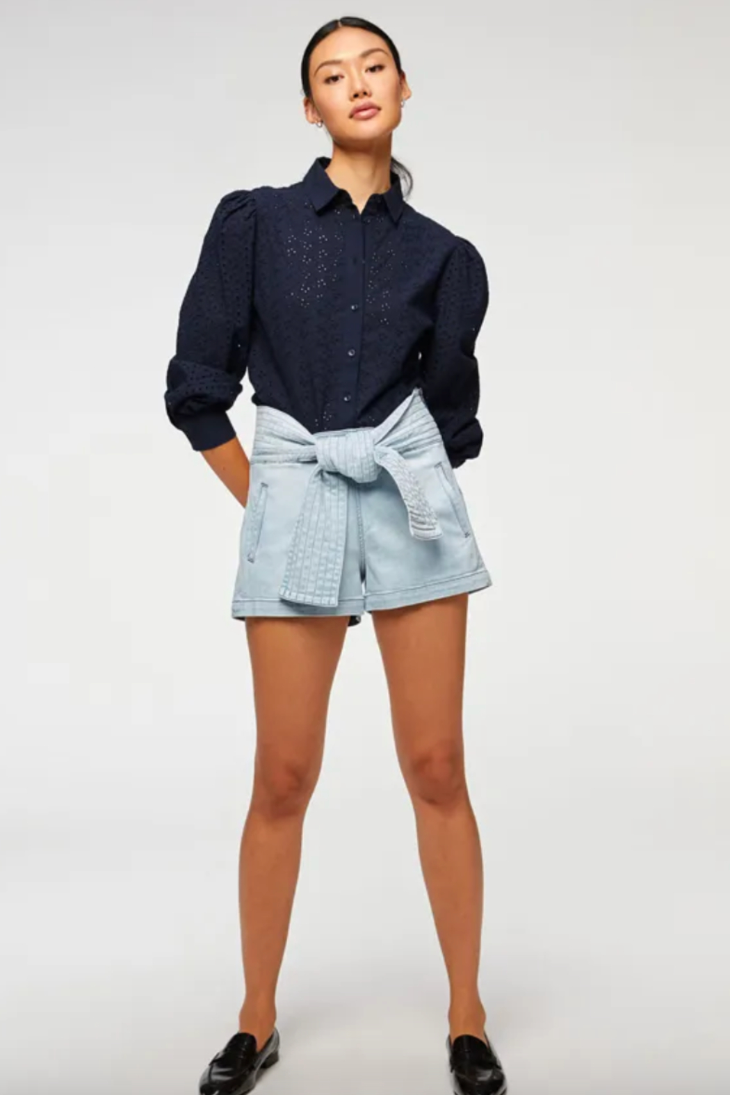7 For all Mankind Trapunto Belted Short - Main Image