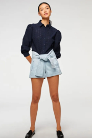 7 For all Mankind Trapunto Belted Short - Front full body