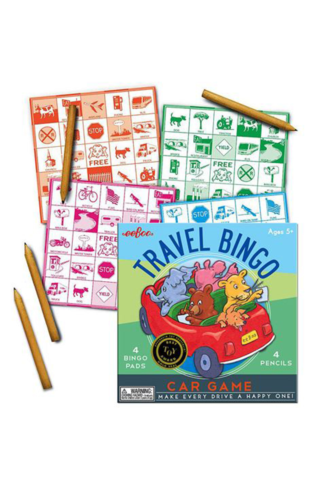 Eeboo Travel Bingo Car Game - Front Full Image