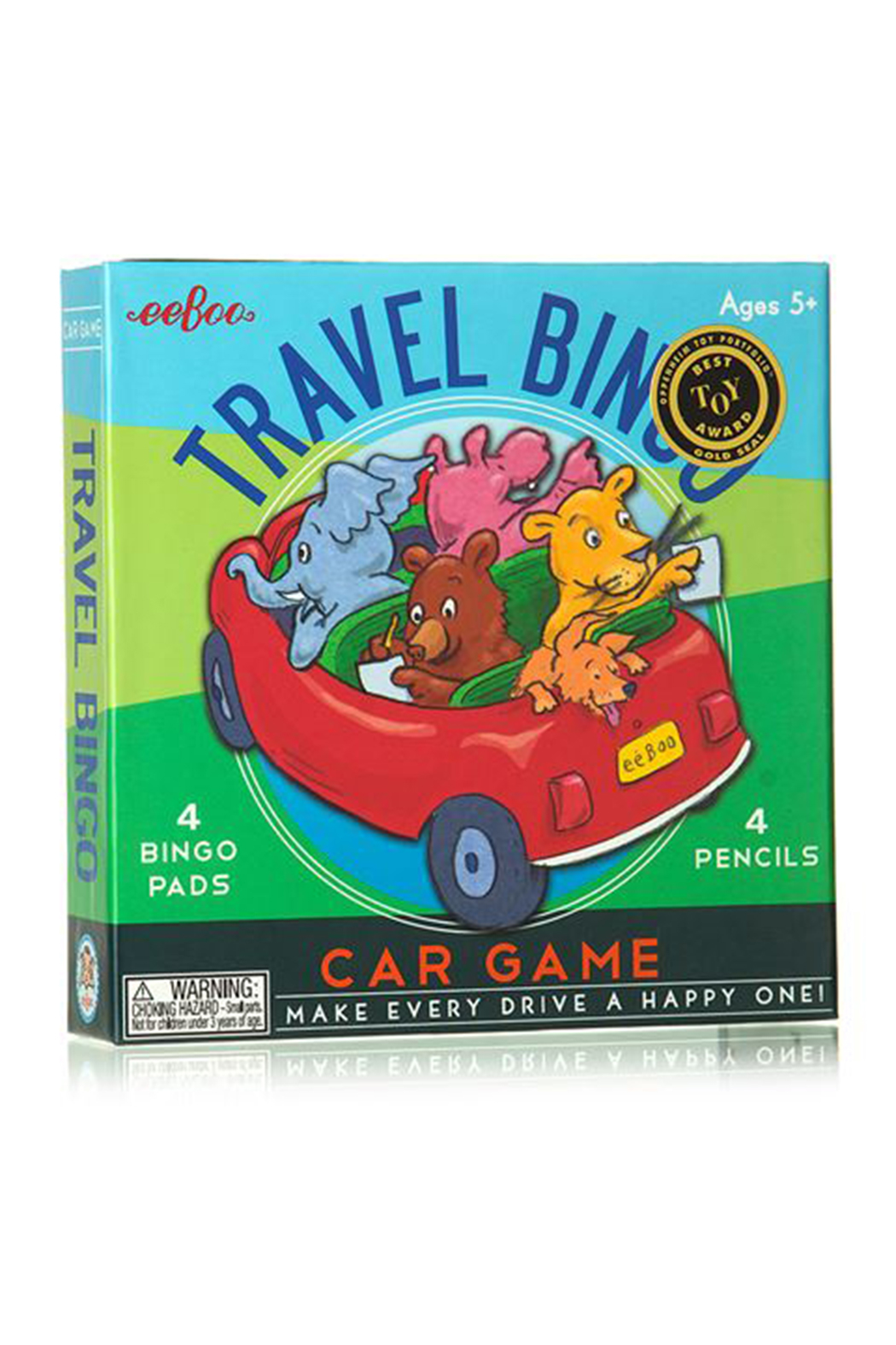 Eeboo Travel Bingo Car Game - Front Cropped Image