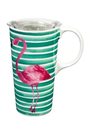 Evergreen Enterprises Travel Cup Flamingo - Product Mini Image