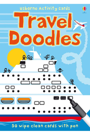 Usborne Travel Doodles: 50 Wipe-Clean Cards - Front cropped