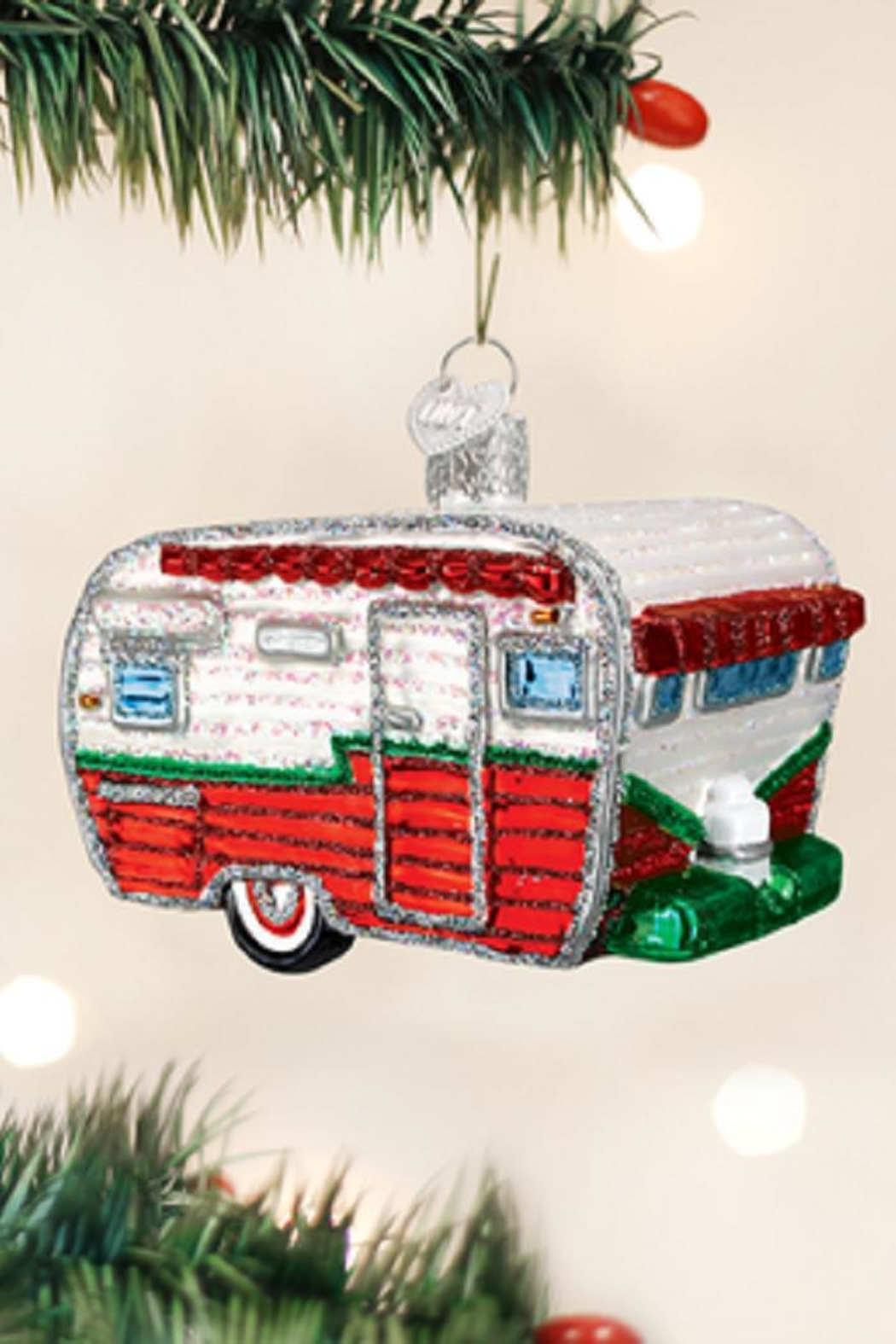 Old World Christmas Travel Trailer Ornament - Front Cropped Image