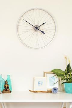 Shoptiques Product: Bicycle Wheel Clock
