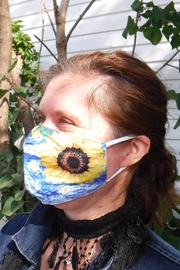 Treasure Island  Sunflower Face Mask - Front cropped