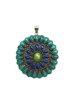 Shoptiques Product: Multi Stone Statement Pendant