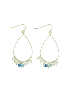 Treasure Rookie Gold Plated Dangle Earrings - Product List Image