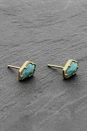 Treasure Rookie Gold Plated Earrings - Front cropped