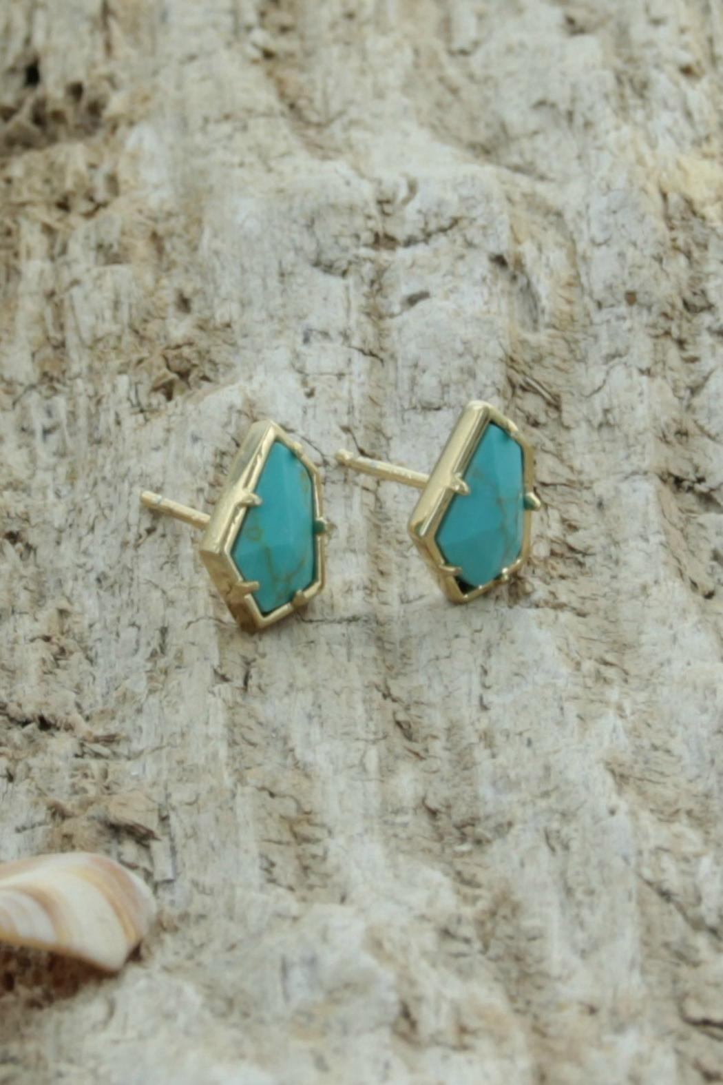 Treasure Rookie Gold Plated Earrings - Front Full Image