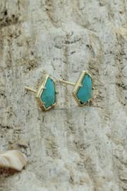 Treasure Rookie Gold Plated Earrings - Front full body