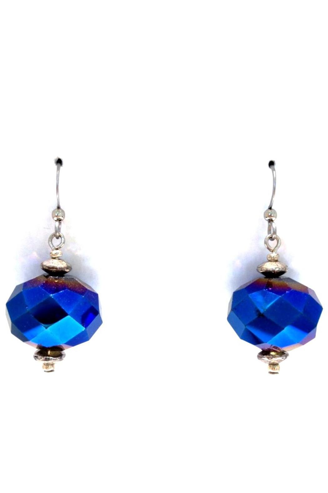 Treasures Hanover Blue Crystal Earrings - Front Cropped Image