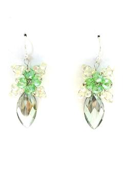 Treasures Hanover Green Crystal Earrings - Alternate List Image