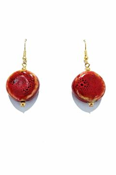 Treasures Hanover Red Porcelain Earrings - Alternate List Image