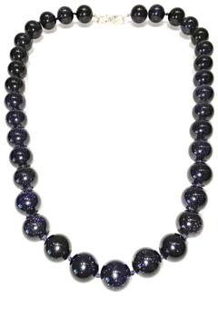 Treasures Hanover Blue Goldstone Necklace - Product List Image