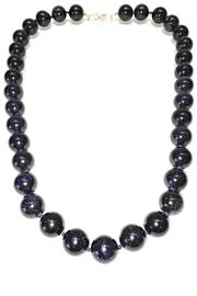 Treasures Hanover Blue Goldstone Necklace - Product Mini Image