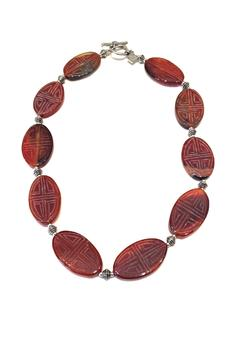 Treasures Hanover Carved Carnelian Necklace - Alternate List Image