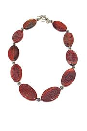 Treasures Hanover Carved Carnelian Necklace - Front cropped
