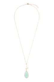 Riah Fashion Tree-Branch-Teardrop Pendant  Necklace - Front cropped