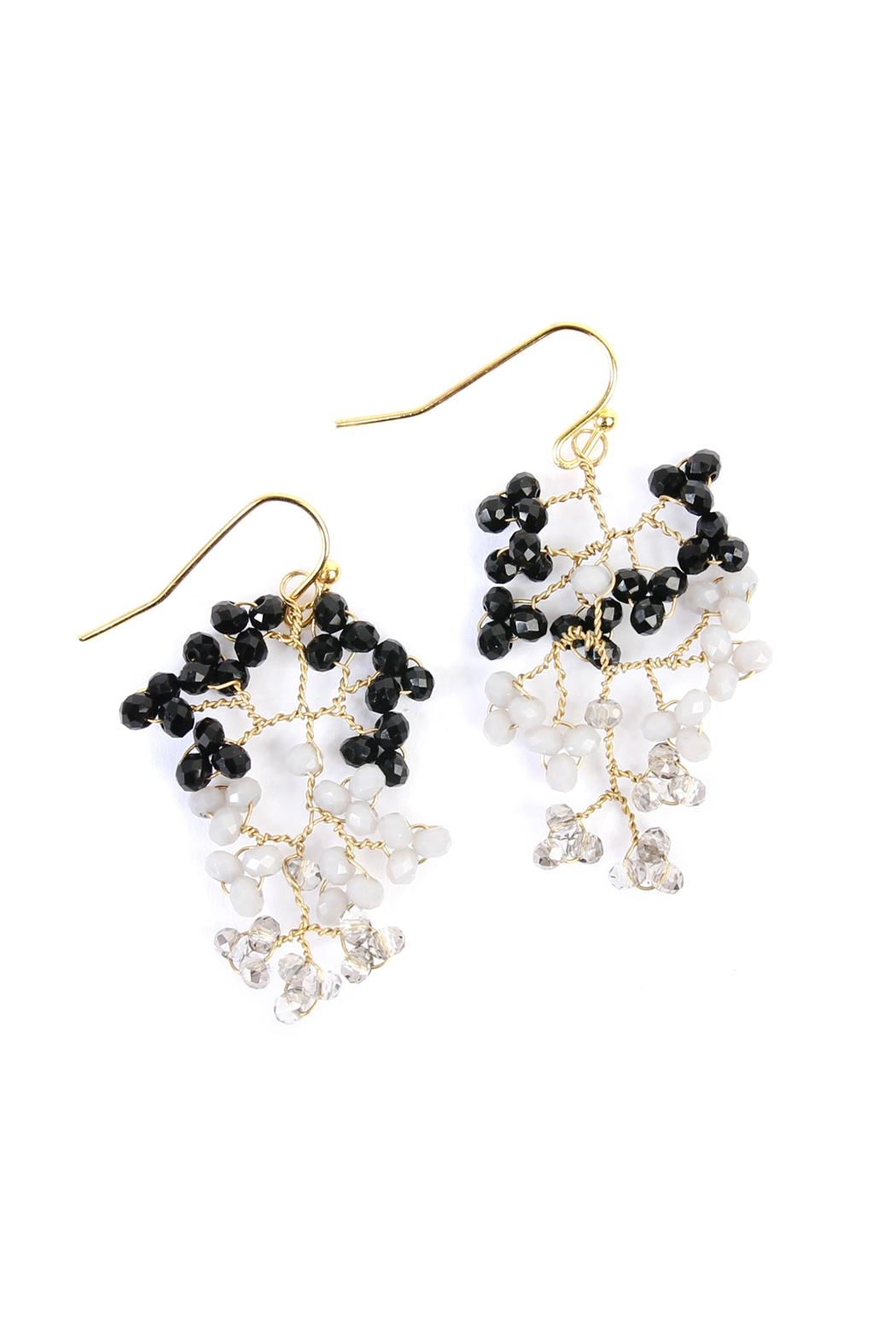 Riah Fashion Tree-Branch-Wired Beaded Earrings - Main Image