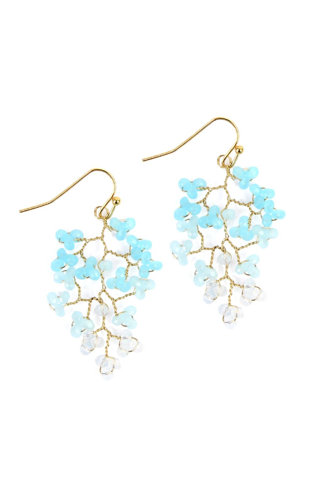 Riah Fashion Tree-Branch-Wired Beaded Earrings - Front Cropped Image