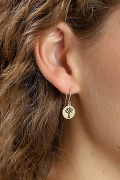 Pilgrim Tree Gold-Plated Earrings - Product List Image