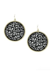 Lets Accessorize Tree-Of-Life Leather Earrings - Product Mini Image
