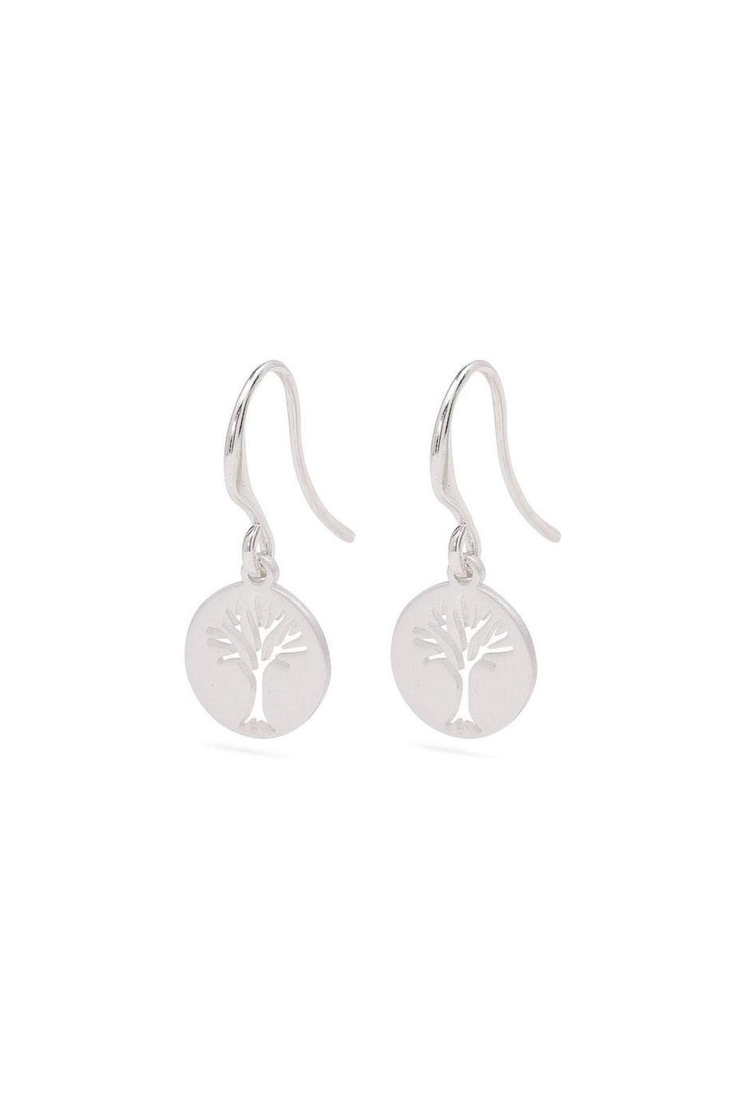 Pilgrim Tree Silver-Plated Earrings - Front Full Image