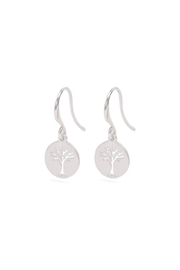 Pilgrim Tree Silver-Plated Earrings - Front full body