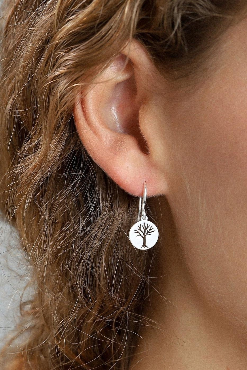 Pilgrim Tree Silver-Plated Earrings - Main Image